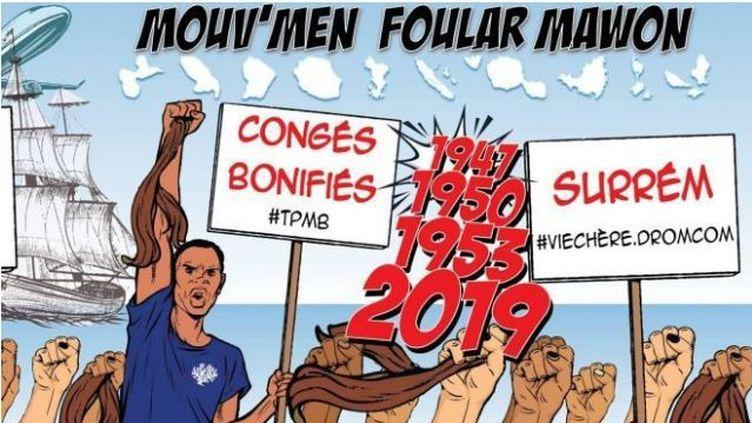 Le Mouv'men Foular Mawon entend lutter contre la réforme des congés bonifiés proposée par le gouvernement. (MOUV'MEN FOULAR MAWON)