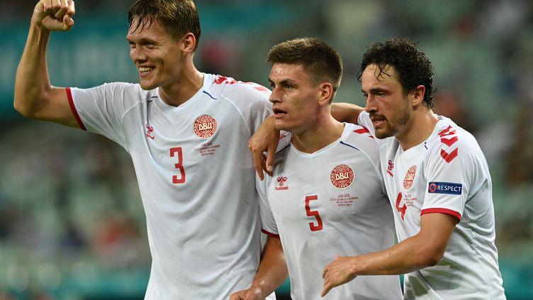 Le Danemark a décroché son ticket pour les demi-finales de l'Euro 2021 en venant à bout de la République Tchèque samedi 3 juillet. (OZAN KOSE / AFP)
