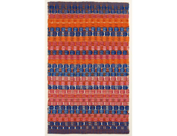 """Anni Albers, """"Red and blue layers, 1954 (The Josef and Anni Albers Foundation)"""