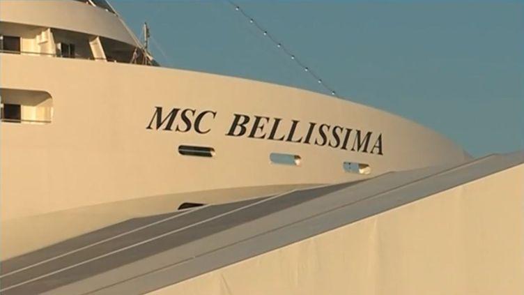 Le paquebotBellissimaconstruit par MSC à Saint-Nazaire (Loire-Atlantique). (FRANCE 3)