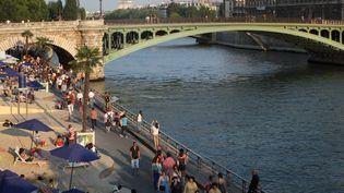 """""""Paris-Plage"""" sur les quais de Seine en 2013. (MANUEL COHEN / MANUEL COHEN)"""