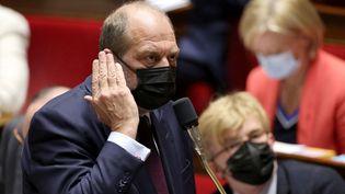 Le ministre de la Justice, Eric Dupond-Moretti, lors des questions au gouvernement à l'Assemblée nationale, à Paris, le 18 mai 2021. (THOMAS COEX / AFP)