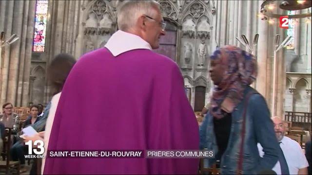 Rouen : une messe en hommage au père Hamel, en présence de dizaines de musulmans
