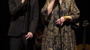 Christian Olivier et Yolande Moreau jouent et chantent Jacques Prévert au théâtre du Rond-Point, à Paris. (GIOVANNI CITTADINI CESI)