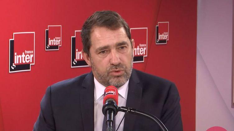 Le ministre de l'Intérieur, Christophe Castaner, le 19 février sur France Inter. (FRANCEINTER / RADIOFRANCE)