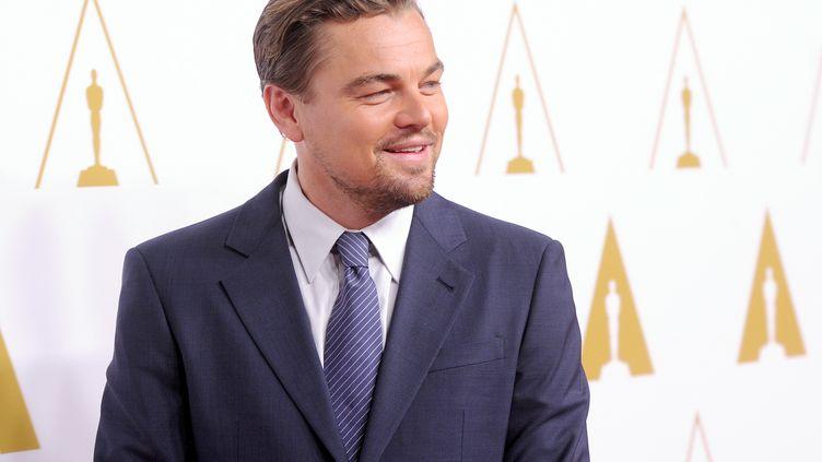 L'acteur Leonardo DiCaprio participe au 86e déjeuner des nominés organisé par l'Academy Awards à l'hôtel The Beverly Hilton, le 10 février 2014 à Beverly Hills (Californie). (KEVIN WINTER / GETTY IMAGES / AFP)