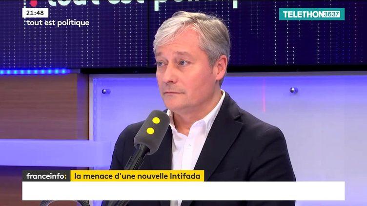 Laurent Hénart, président du Parti radical et maire de Nancy, était l'invité de Tout est politique, vendredi 8 décembre sur franceinfo. (FRANCEINFO / RADIO FRANCE)