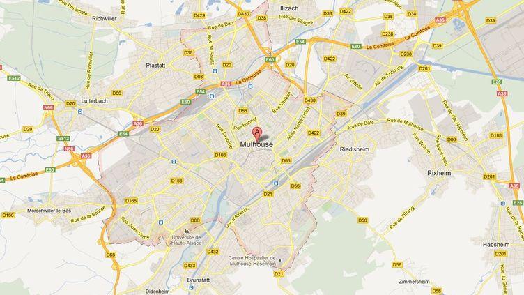 La ville de Mulhouse (Haut-Rhin) a connu deux nuits de violence depuis la fin juilllet. (GOOGLE MAPS)