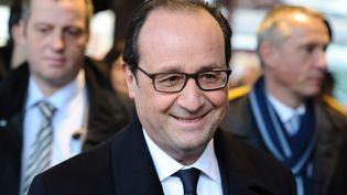 Le président de la République François Hollande le 17 janvier 2015 à Tulle (Corrèze). (NICOLAS TUCAT / AFP)