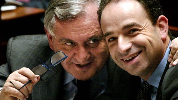 Coppé avec Raffarin en 2004 (AFP)