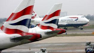 La compagnie British Airways a annulé tous ses vols au départ des aéroports londoniens de Heathrow et Gatwick, samedi 27 mai 2017. (ANDY RAIN / EPA / AFP)