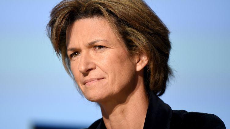 Isabelle Kocher, le 1er octobre 2018 à Paris. (ERIC PIERMONT / AFP)