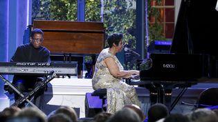 Herbie Hancock et Aretha Franklin au concert du Jazz Day à la Maison Blanche, le 30 avril 2016  (Aude Guerrucci / Upi / MaxPPP)
