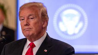 Le président américain Donald Trump, à Washington (Etats-Unis), le 19 juillet 2018. (CHERISS MAY / NURPHOTO)