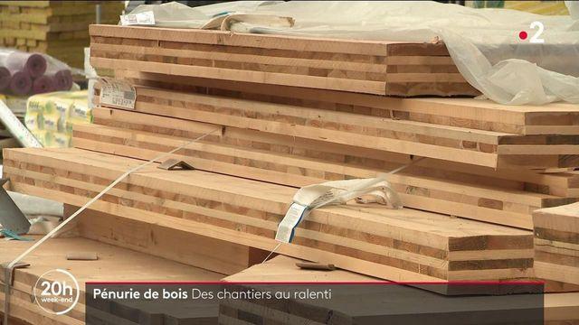 Pénurie de bois : les chantiers de construction au ralenti