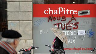 Une librairie Chapitre de Lyon, le 2 décembre 2013.  (MaxPPP)
