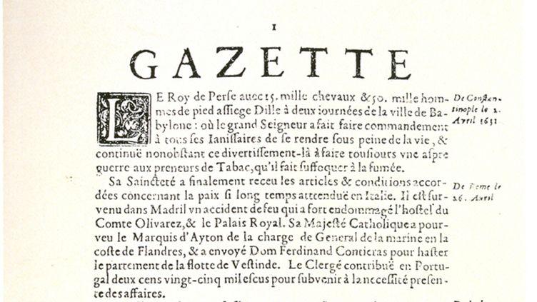 (Qui créa le premier journal français, baptisé La Gazette, en 1631 ?)