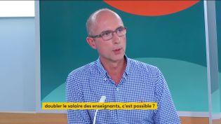 Gilles Langlois, secrétaire national du syndicat enseignant Unsa, le 13 septembre 2021, sur franceinfo. (FRANCEINFO)
