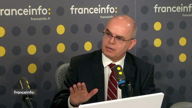 Bruno Chrétien, président de l'Institut de la protection sociale sur franceinfo, le 15 janvier 2020. (FRANCEINFO / RADIO FRANCE)