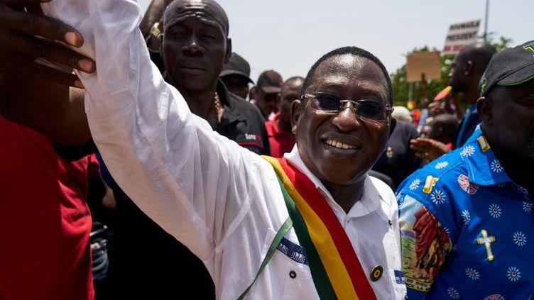 Soumaïla Cissé, figure politique emblématique au Mali, à Bamako, en 2018. (MICHELE CATTANI / AFP)