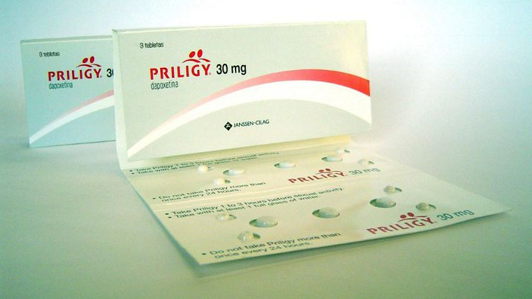 Une boîte de Priligy, médicament des laboratoiresJanssen/Furiex/Menarini, vendue au Mexique le 8 septembre 2009. (CORTESÍA / NOTIMEX)