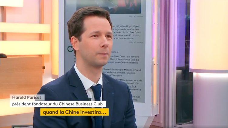 Harold Parisot, président du Chinese Business Club (FRANCEINFO)