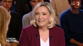 L'EMISSION POLITIQUE / FRANCE 2, 14 mars 2019. Marine Le Pen (L'EMISSION POLITIQUE / FRANCE 2)