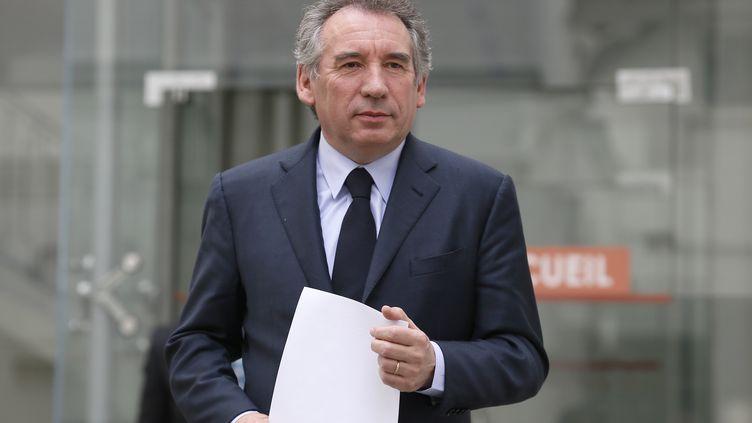 François Bayrou, le président du MoDem, le 3 avril 2013 à Paris. (KENZO TRIBOUILLARD / AFP)