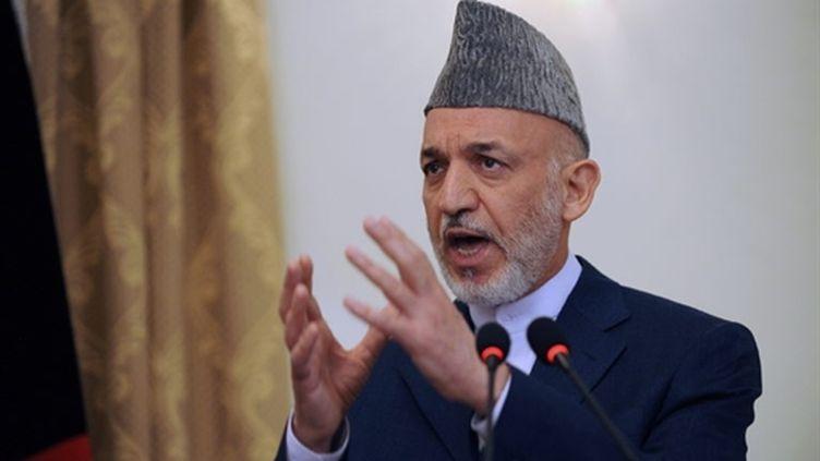 Le président afghan Hamid Karzaï, lors d'une conférence de presse à Kaboul, le 2 septembre 2010. (AFP - Shah Marai)