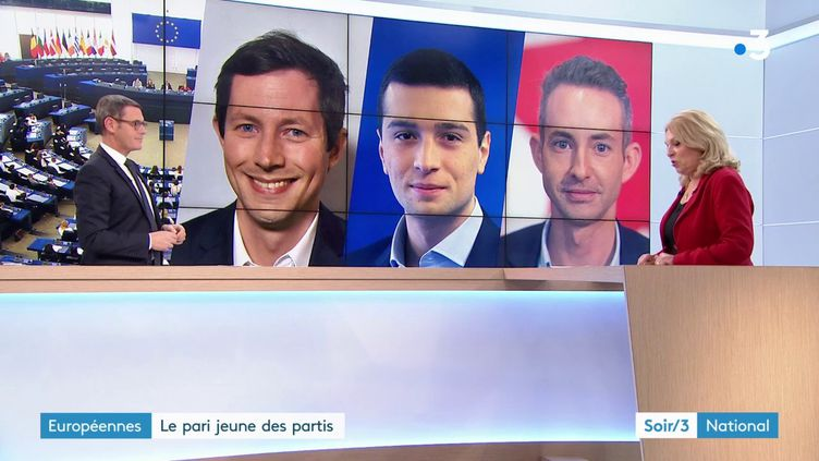 Des jeunes tête d liste aux européennes pour LR, RN et le PCF notamment (France 3)