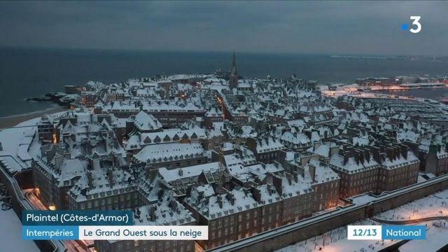 Météo : rare épisode neigeux en Bretagne
