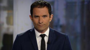 Benoit Hamon sur le plateau du JT de France 2 le 25 août 2014 (BERTRAND GUAY / AFP)