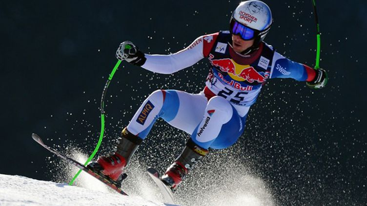 Carlo Janka ne participera pas au slalom géant de Kranjska.  (OLIVIER MORIN / AFP)