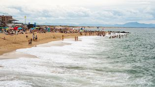 La plage de Capbreton (Landes), le 17 août 2020. (XOSE BOUZAS / HANS LUCAS / AFP)