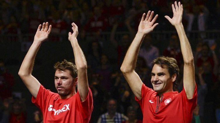 Stanislas Wawrinka et Roger Federer, unis en Coupe Davis