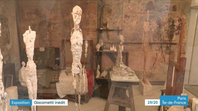 """Exposition à l'institut Giacometti """"A la recherche des oeuvres disparues"""" (France 3 Paris Ile de France)"""