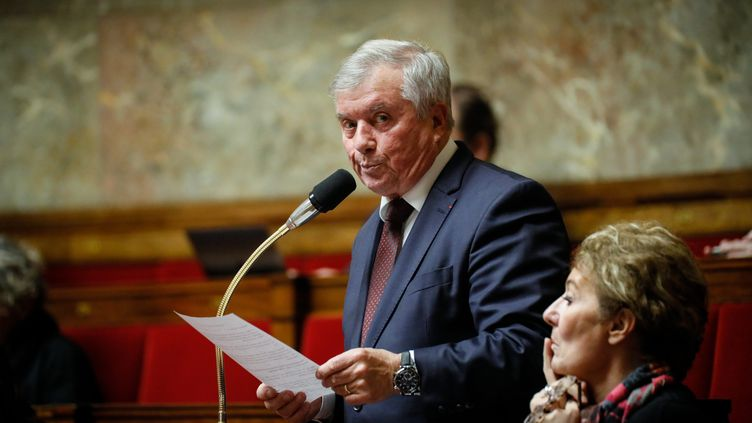 Guy Bricout, député UDI-Agir du Nord, le 3 décembre 2019 pendant une séance de questions au gouvernement. (THOMAS PADILLA / MAXPPP)