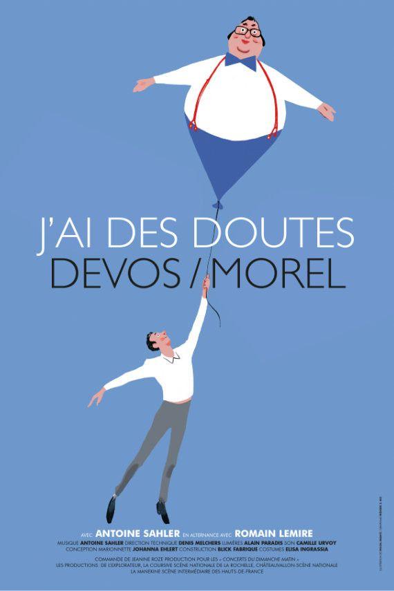 """L'affiche du spectacle """"j'ai des doutes"""" (Pascal Rabaté et Frédéric Méi)"""