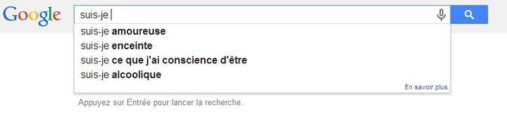 """Voilà ce que l'on obtient en tapant """"suis-je"""" dans Google, le 24 janvier 2014. (GOOGLE.COM / FRANCETV INFO)"""