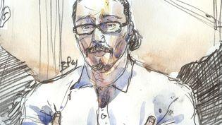Jawad Bendaoud au palais de justice de Paris. (BENOIT PEYRUCQ / AFP)