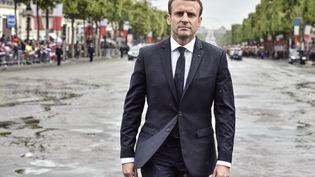 Le chef de l'Etat, Emmanuel Macron, lors de son investiture, le 14 mai 2017 à Paris. (ALAIN JOCARD / AFP)