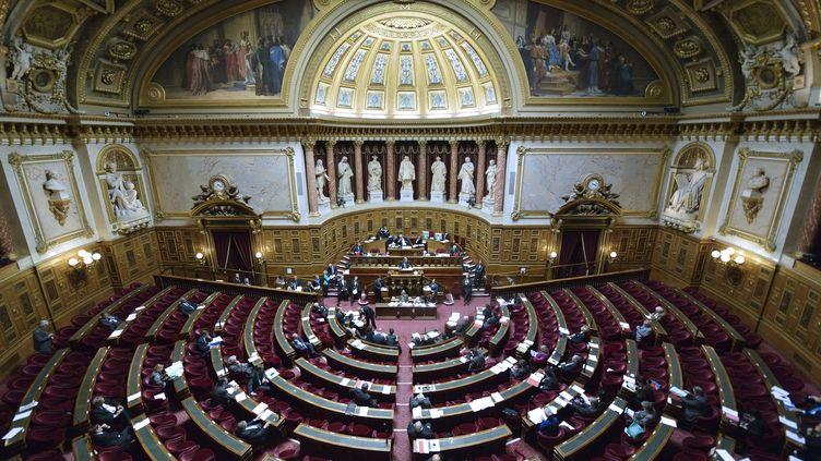 Une vue générale de l'hémicycle du Sénat, le 16 octobre 2012. (ERIC FEFERBERG / AFP)