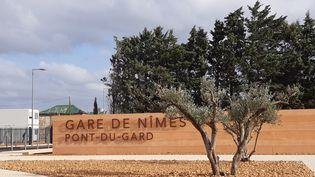 La gare TGV de Nîmes-Pont du Gard. (SYLVIE DUCHESNE / RADIO FRANCE)