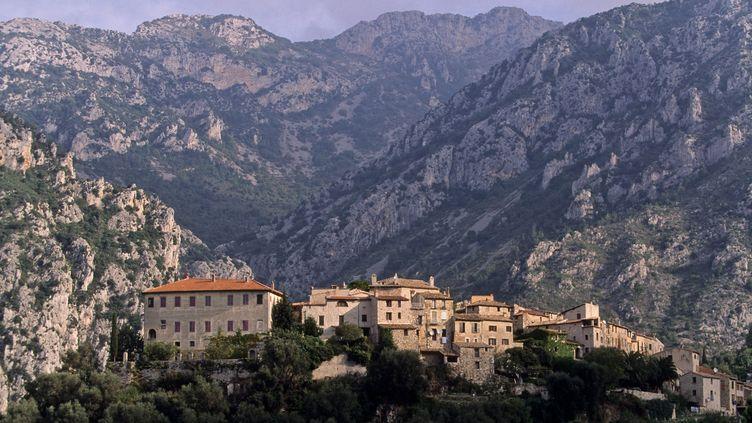 Le village perché de Gorbio, dans les Alpes-Maritimes, le 1er juillet 2011. (MICHEL SEYBOUN / PHOTONONSTOP / AFP)