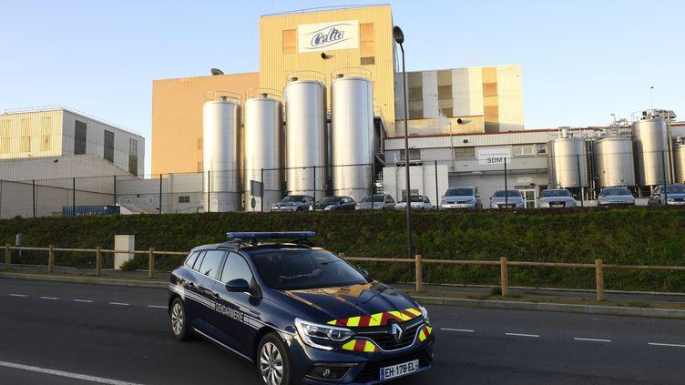 L'usine de Lactalis, à Craon en Mayenne, en janvier 2018. (DAMIEN MEYER / AFP)