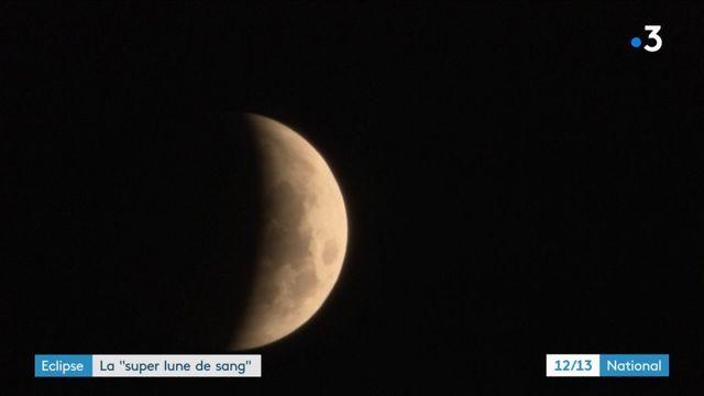 """Eclipse : la """"super lune de sang"""""""