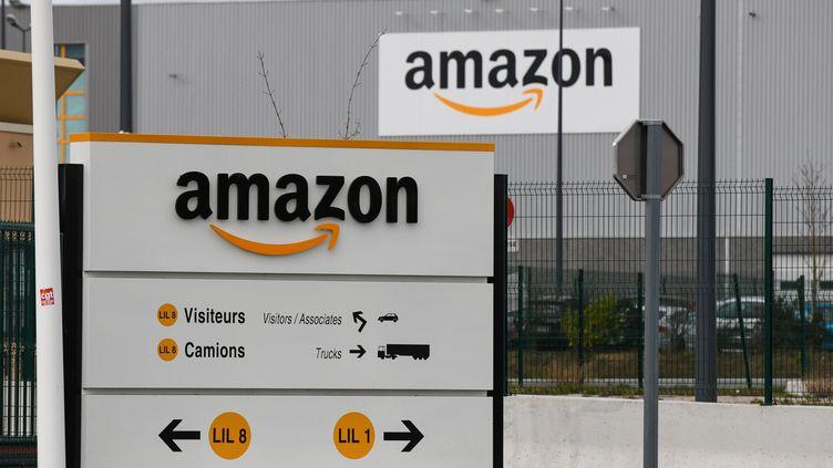 Un centre logistique d'Amazon, à Lauwin-Planque, dans le Nord, le 4 mars 2019. (DENIS CHARLET / AFP)