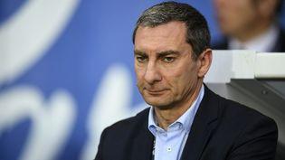 Pascal Garibian,directeur technique de l'arbitrage français, en avril 2017 au Parc des Princes. (FRANCK FIFE / AFP)