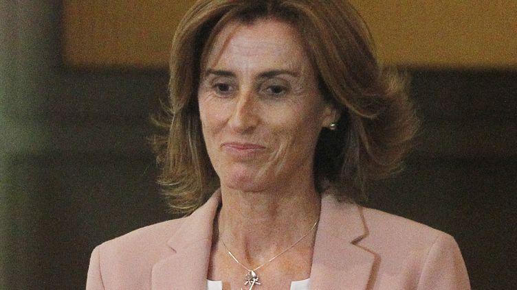 Marcela Cubillos, le 23 janvier 2018 au siège du Congrès national à Santiago (Chili). (ESTEBAN GARAY / EFE)
