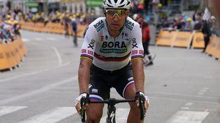 Peter Sagan à l'arrivée de la 3e étape du Tour de France 2021, le 28 juin dernier, après avoir chuté dans le final. (PHOTOPQR / OUEST FRANCE / MAXPPP)